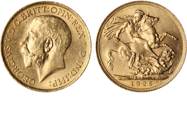 Australia, George V, Sovereign, 1925-S