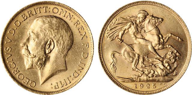 Australia, George V, Sovereign, 1925-S