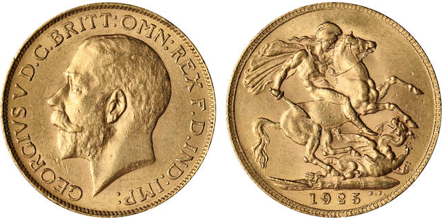 South Africa, George V, Sovereign, 1925-SA