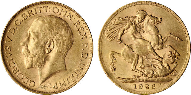 South Africa, George V, Sovereign, 1926-SA