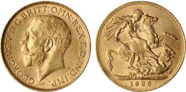 South Africa, George V, Sovereign, 1926-SA
