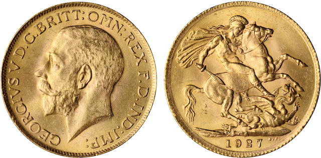 South Africa, George V, Sovereign, 1927-SA