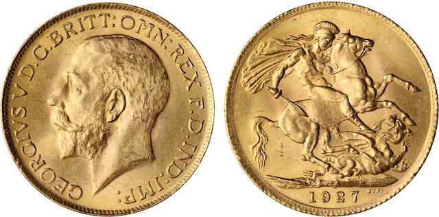 South Africa, George V, Sovereign, 1927-SA