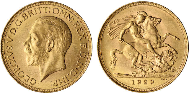 South Africa, George V, Sovereign, 1929-SA