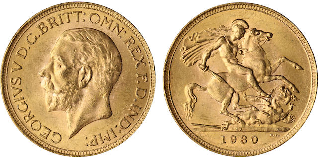 South Africa, George V, Sovereign, 1930-SA