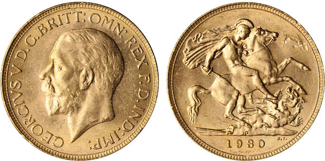 Australia, George V, Sovereign, 1930-P