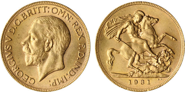 Australia, George V, Sovereign, 1931-P