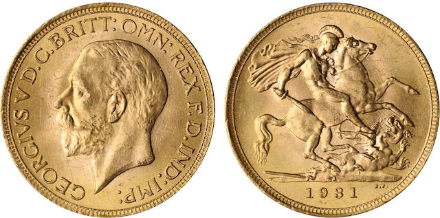 South Africa, George V, Sovereign, 1931-SA