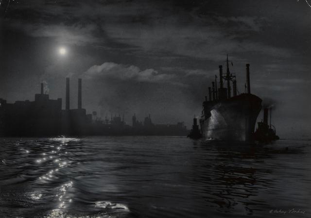 A. Aubrey Bodine (American, 1906-1970); Dawn Arrival, Baltimore Harbor;