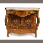 A Leventine shell inlaid carved hardwood console