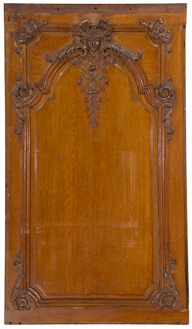 [OLYMPIC] Oak paneling from the Parlor Suite C-62  circa 1910 67-1/4 x 39 in. (170 x 99 cm.)
