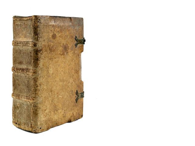 CATHERINE OF SIENA, SAINT. 1347-1380. [Libro della divina dottrina.] Dialogus Seraphice ac Dive Catharine de Senis cum nonullis aliis orationibus. Brescia: Bernardinus de Misintis, April 15, 1496.