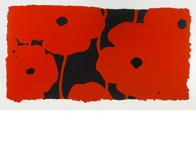 Donald Sultan (American, born 1951); Red Poppies, Aug 5;