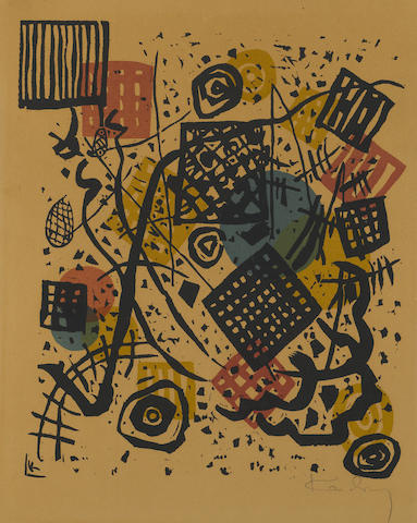 Wassily Kandinsky (Russian, 1866-1944); Kleine  Welten V;