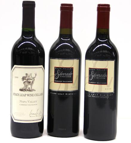 Stag's Leap Cellars Cabernet Sauvignon 1999 (3)  Silverado Cabernet Sauvignon 1999 (1)  Silverado Cabernet Sauvignon 2000 (6 oc)