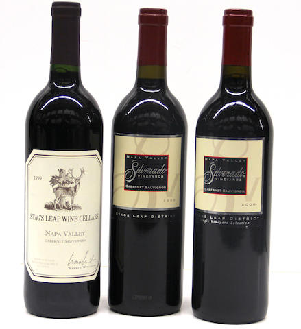 Stag's Leap Cellars Cabernet Sauvignon 1999 (3)<BR />Silverado Cabernet Sauvignon 1999 (1)<BR />Silverado Cabernet Sauvignon 2000 (6 oc)