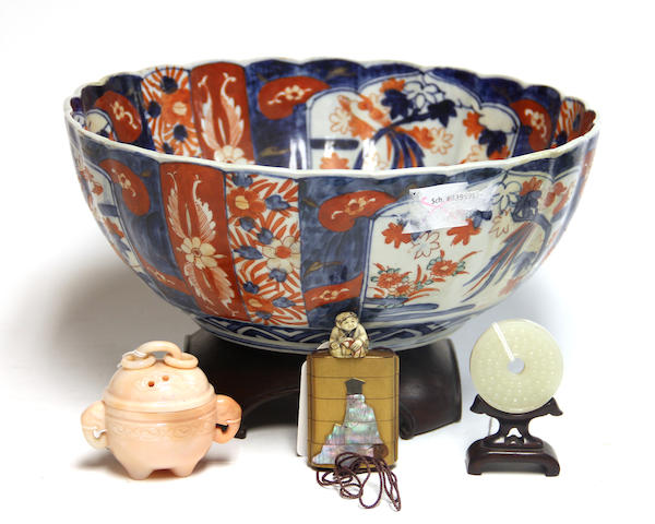 Group of four Chinese and Japanese decorative articles