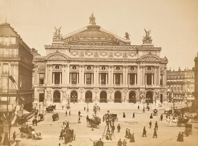 PARIS-PHOTOGRAPHY. Album containing 24 photographs, albumen prints,