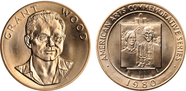 1980 Grant Wood One Ounce American Arts Gold Medal