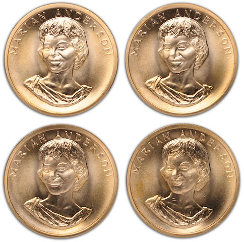 American Arts Gold Medallion, Marion Anderson, 1980, 1/2 oz. Gold (4)