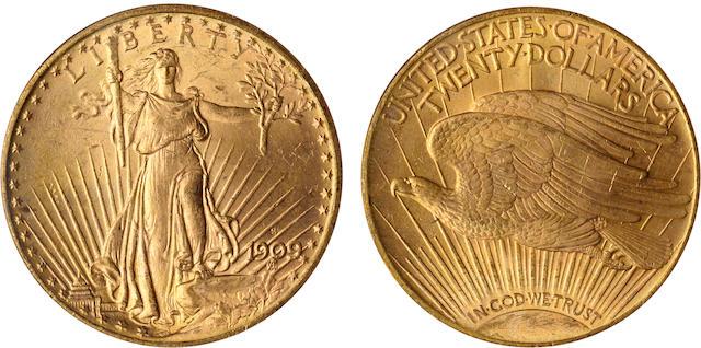 1909-S $20 MS64 PCGS