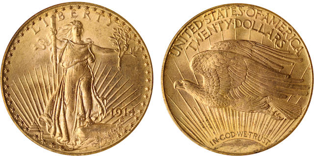 1914-S $20 MS66 NGC