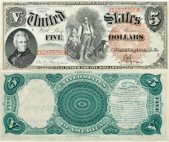 Fr. 72 $5 Legal Tender Note 1882