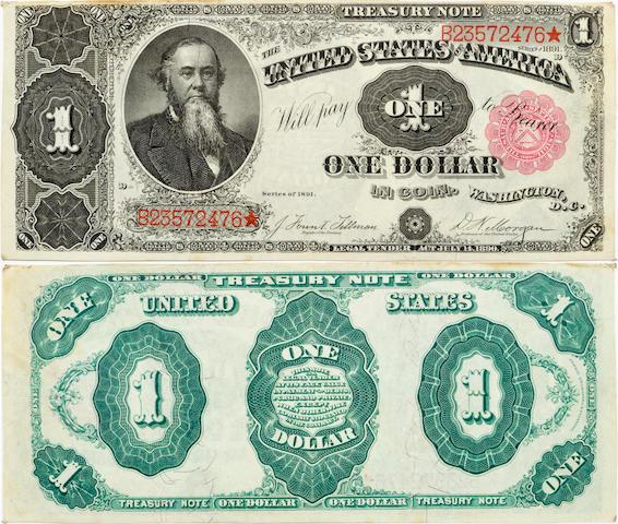 Fr. 351 $1 Treasury Note 1891