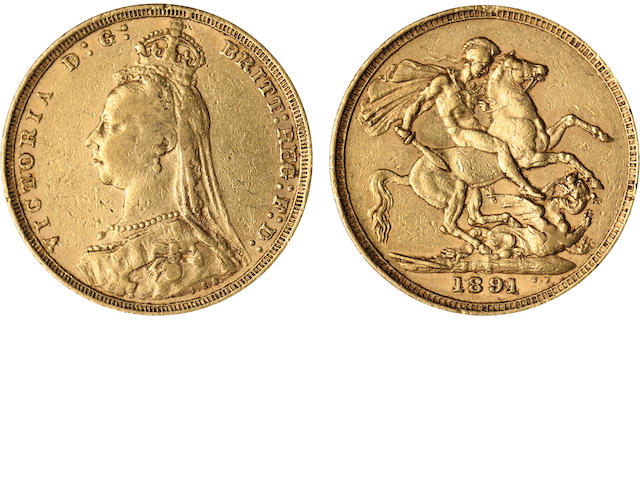 Australia, Victoria, Sovereign, 1891-S