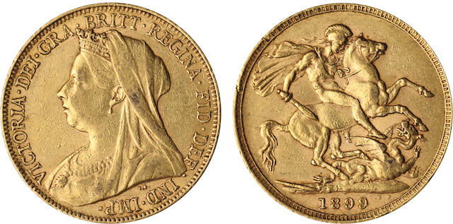 England, Victoria, Sovereign, 1899