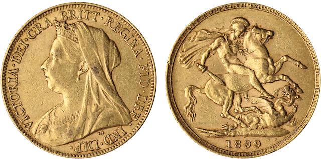 England, Victoria, Sovereign, 1899
