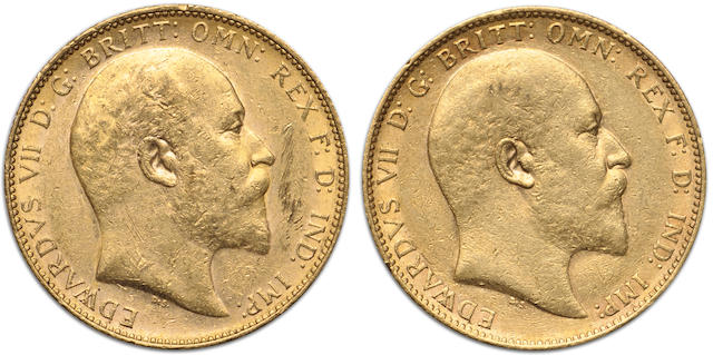 Australia, Edward VII, Sovereigns, 1902-P (2)