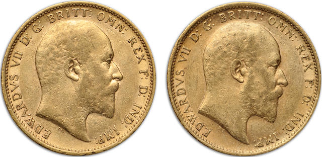 Australia, Edward VII, Sovereigns, 1902-S (2)