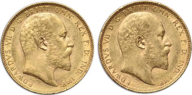 Australia, Edward VII, Sovereigns, 1903-M (2)