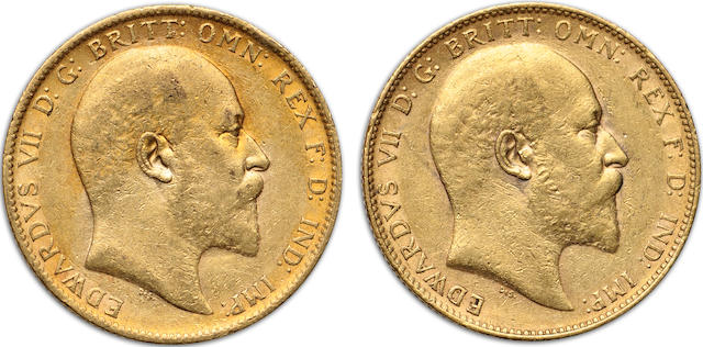 Australia, Edward VII, Sovereigns, 1903-P (2)