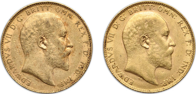 England, Edward VII, Sovereigns, 1905 (2)