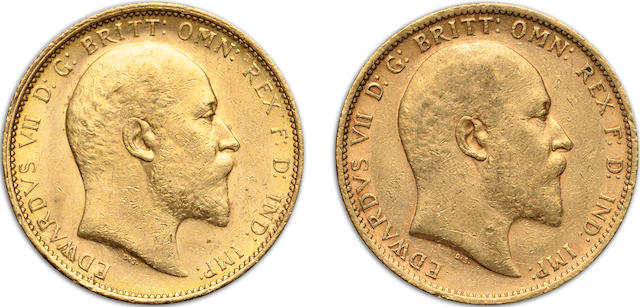 Australia, Edward VII, Sovereigns, 1905-S (2)