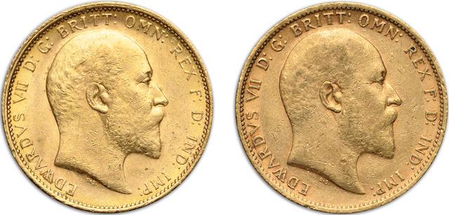 Australia, Edward VII, Sovereigns, 1905-S (2)