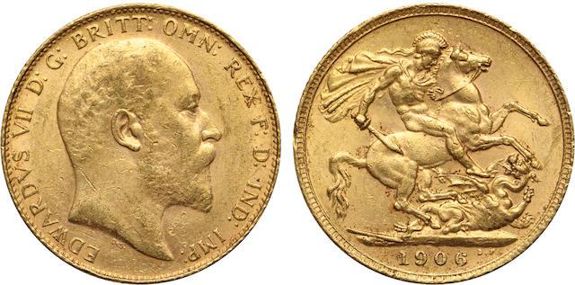 Great Britain, Edward VII, Sovereign, 1906