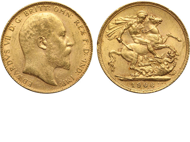 Great Britain, Edward VII, Sovereign, 1906