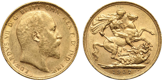 Australia, Edward VII, Sovereign, 1907-S