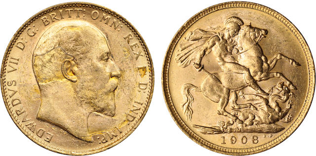 Australia, Edward VII, Sovereign, 1908-M