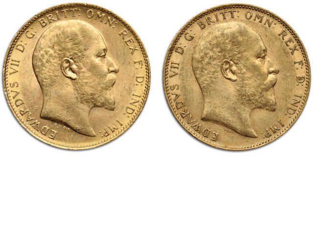 Australia, Edward VII, Sovereigns, 1909-M (2)