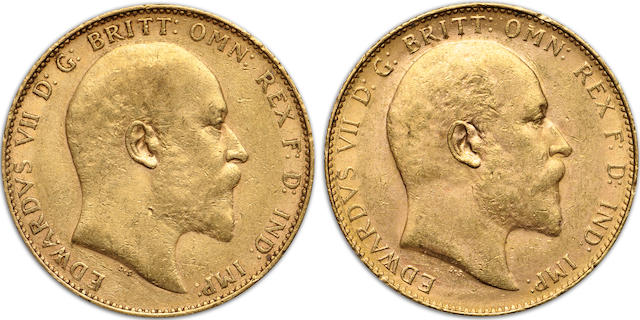 Australia, Edward VII, Sovereigns, 1909-P (2)