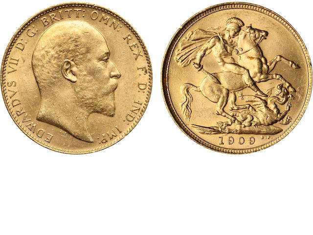 Australia, Edward VII, Sovereign, 1909-S