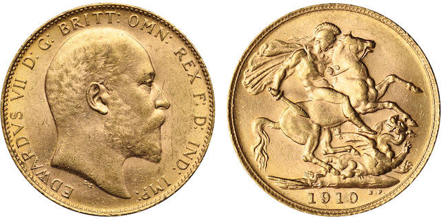 Great Britain, Edward VII, Sovereign, 1910