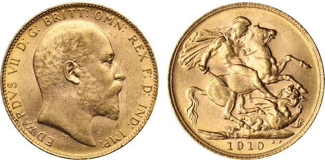 Great Britain, Edward VII, Sovereign, 1910