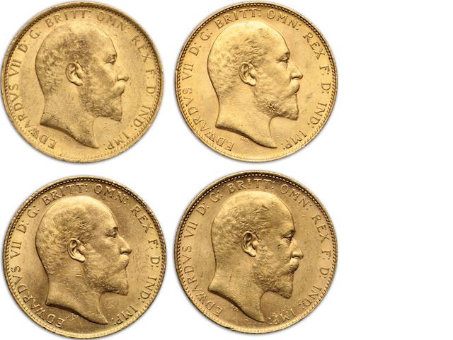 Australia, Edward VII, Sovereigns, 1910-S (4)