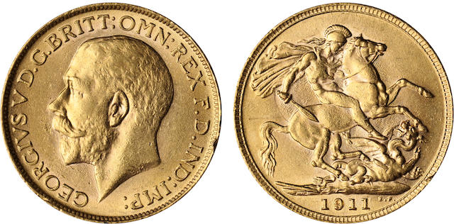 Great Britain, George V, Sovereign, 1911