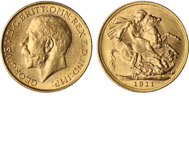 Australia, George V, Sovereign, 1911-M